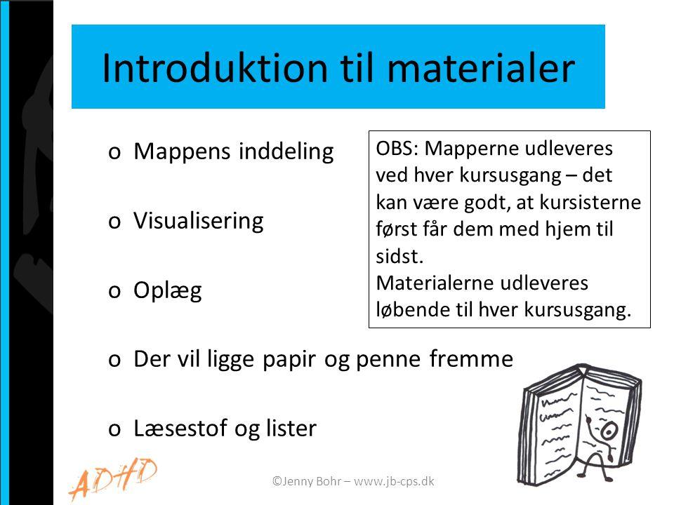 Introduktion til materialer