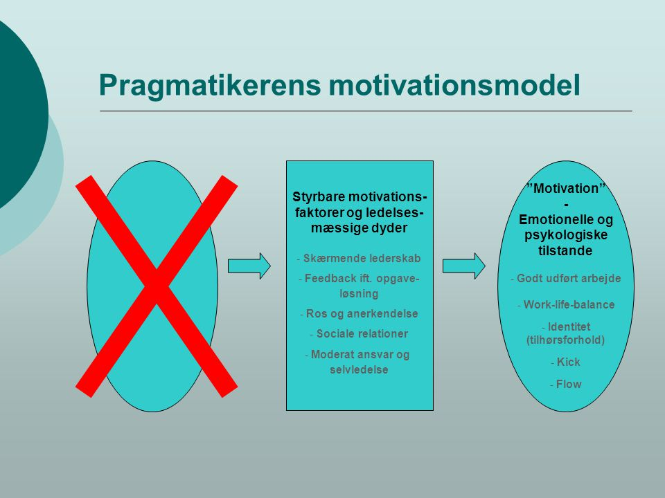 Pragmatikerens motivationsmodel
