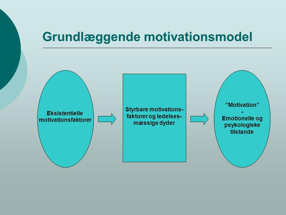 Grundlæggende motivationsmodel