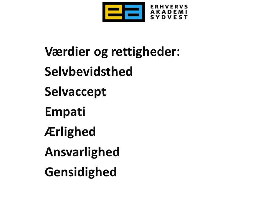 Værdier og rettigheder:
