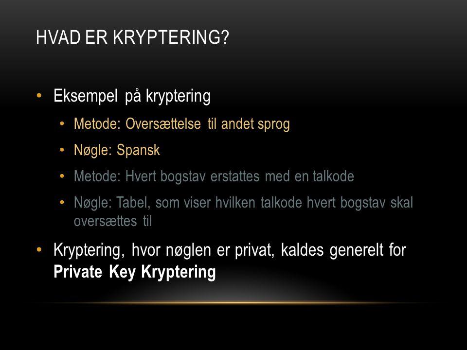 Hvad er kryptering Eksempel på kryptering