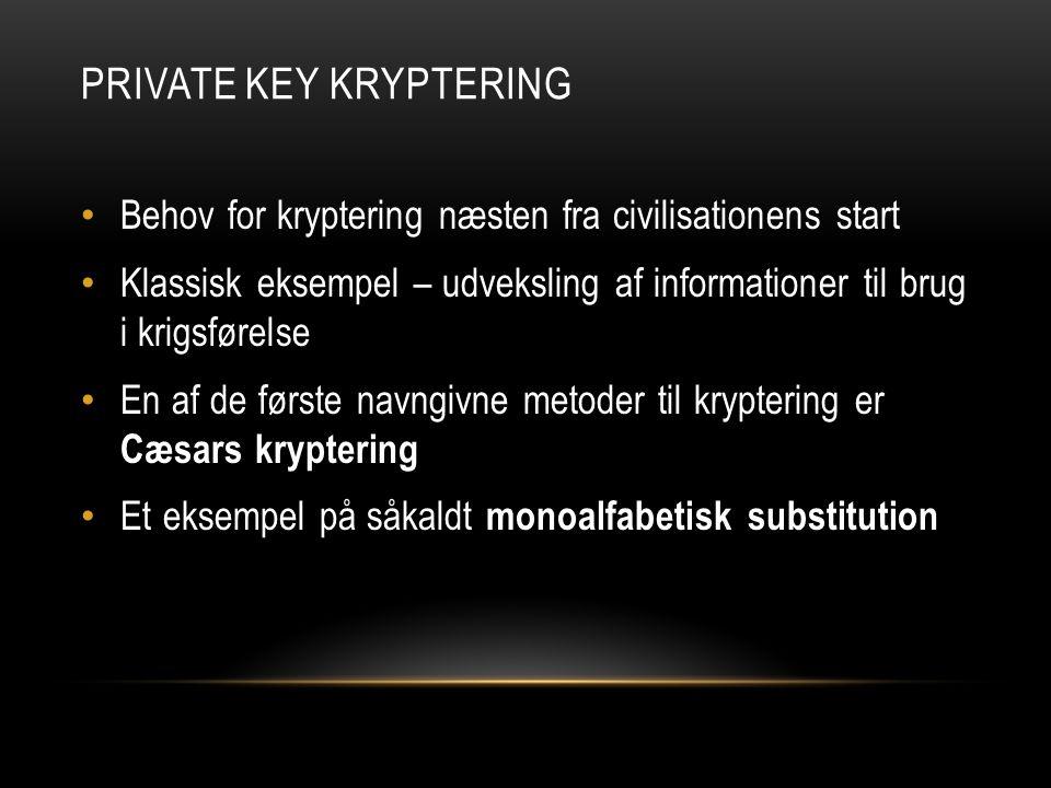 Private key Kryptering