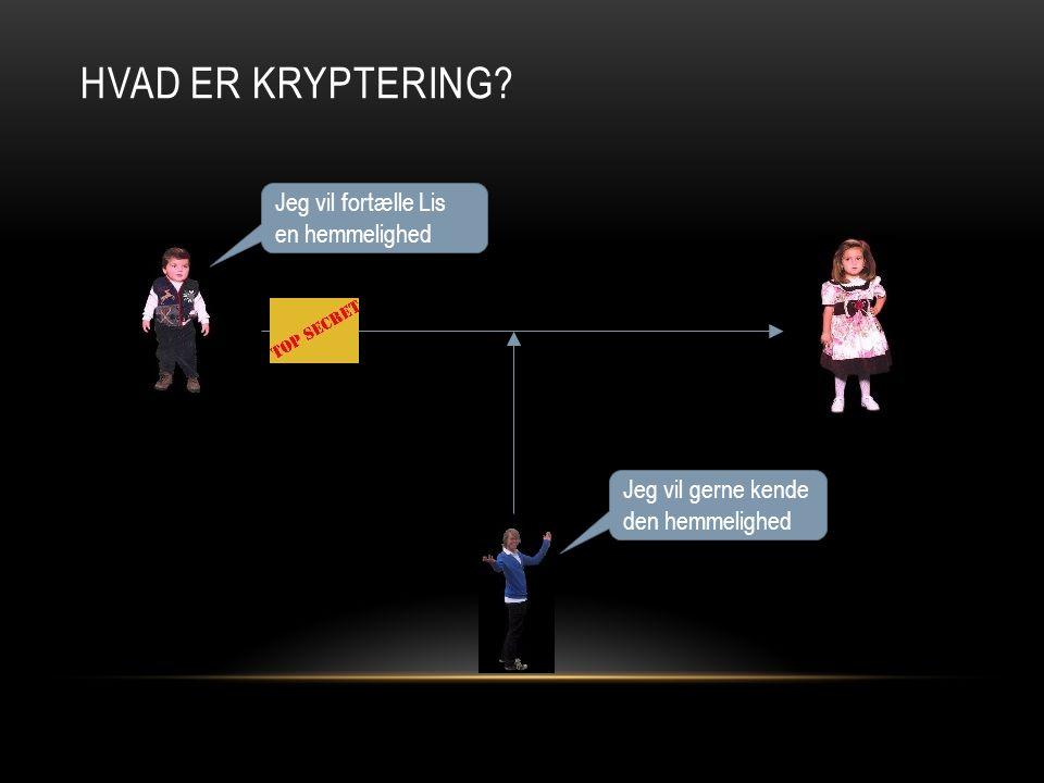 HvAD er kryptering Jeg vil fortælle Lis en hemmelighed