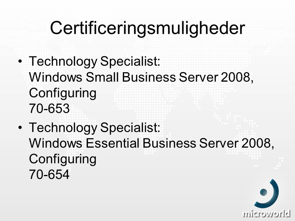 Certificeringsmuligheder