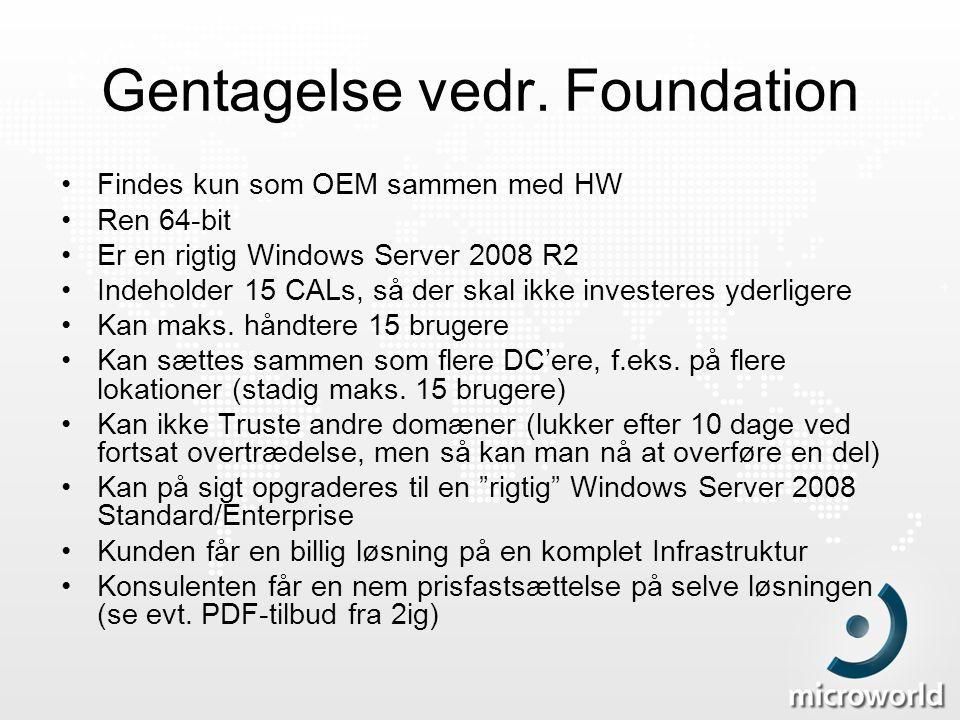 Gentagelse vedr. Foundation