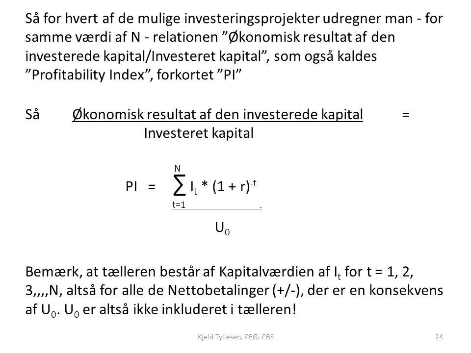 Så Økonomisk resultat af den investerede kapital = Investeret kapital
