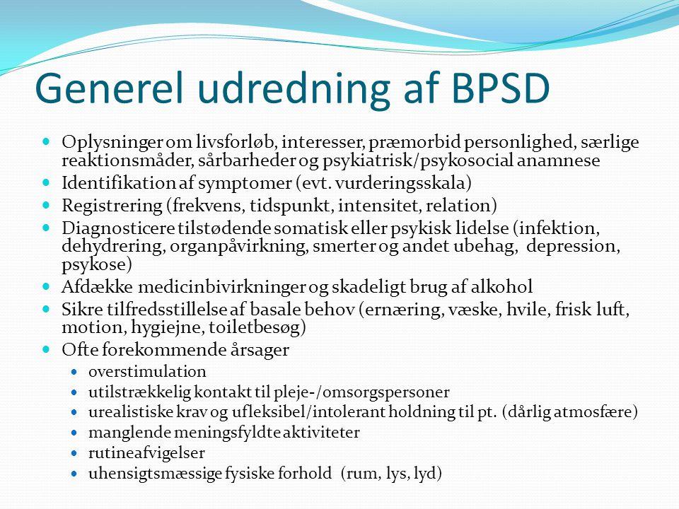 Generel udredning af BPSD