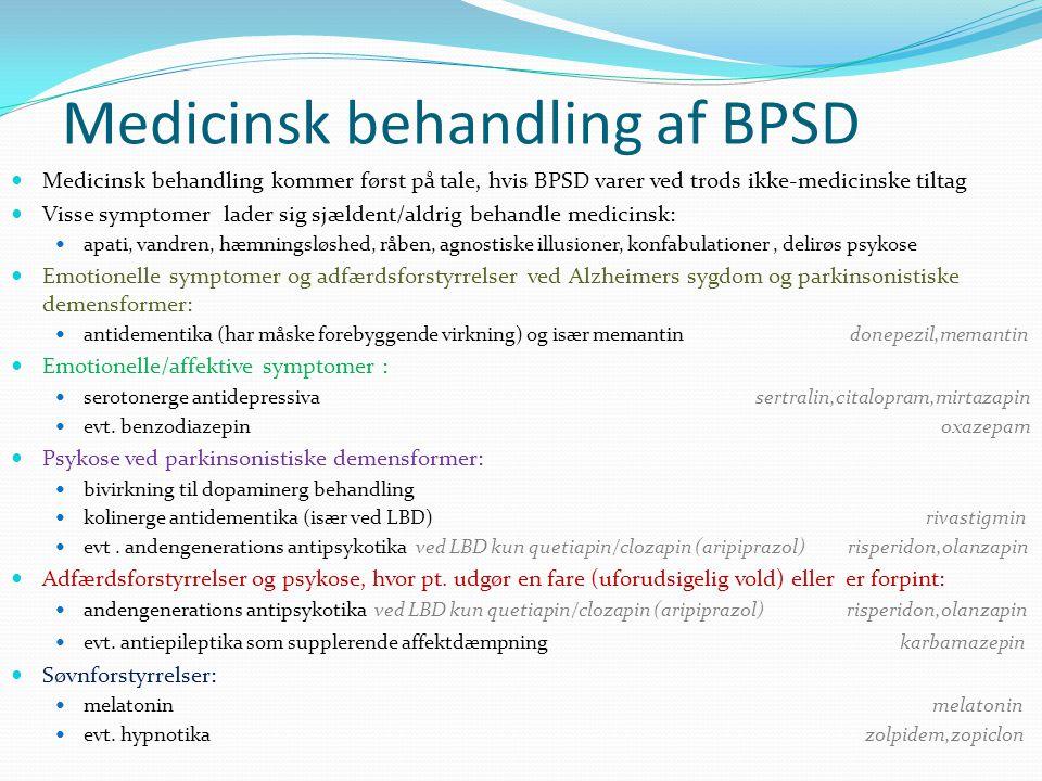 Medicinsk behandling af BPSD