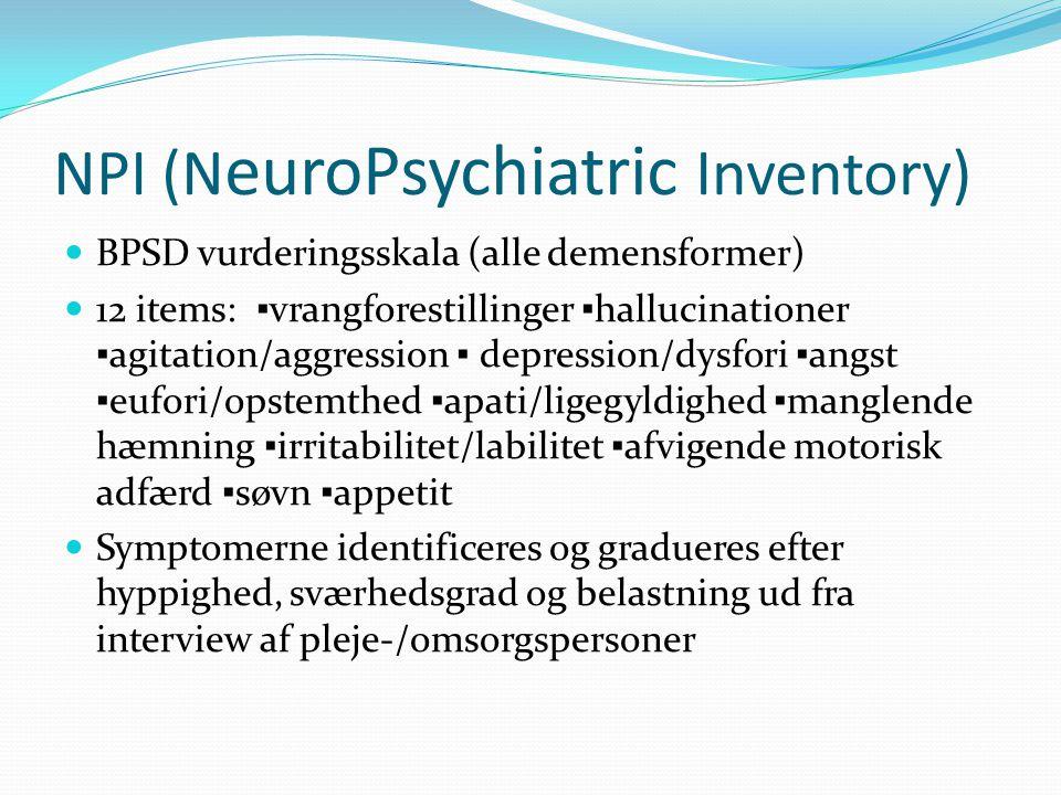 NPI (NeuroPsychiatric Inventory)