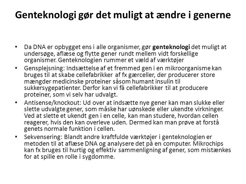Genteknologi gør det muligt at ændre i generne