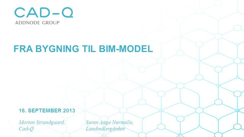 Fra bygning til BIM-model