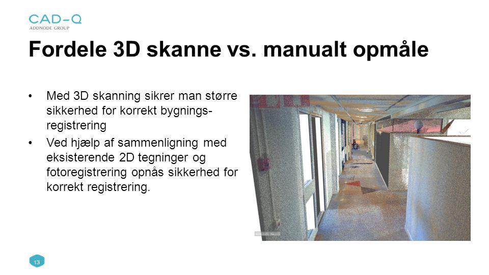 Fordele 3D skanne vs. manualt opmåle