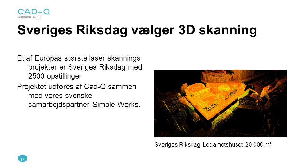 Sveriges Riksdag vælger 3D skanning