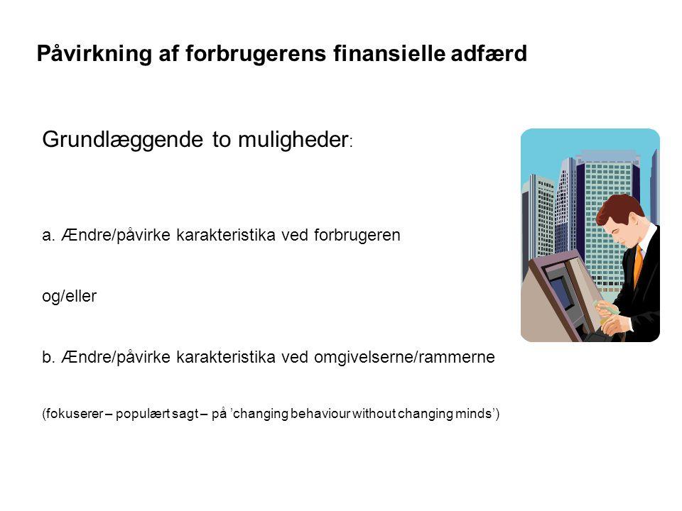 Påvirkning af forbrugerens finansielle adfærd