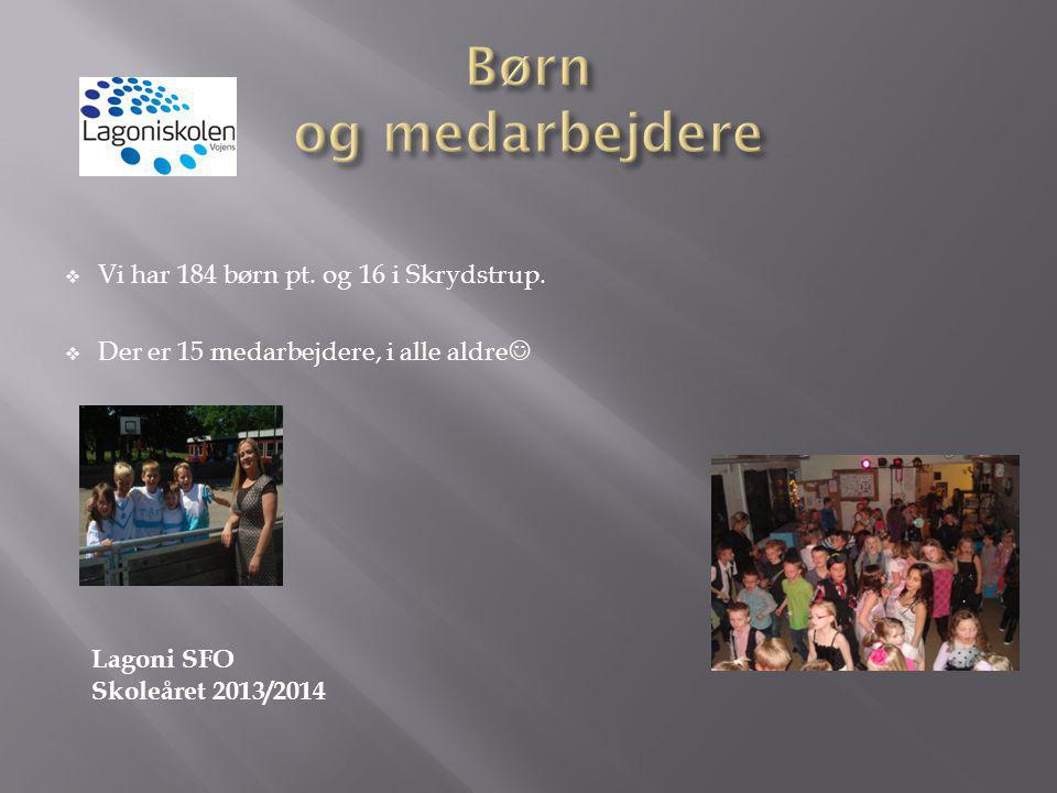 Børn og medarbejdere Vi har 184 børn pt. og 16 i Skrydstrup.