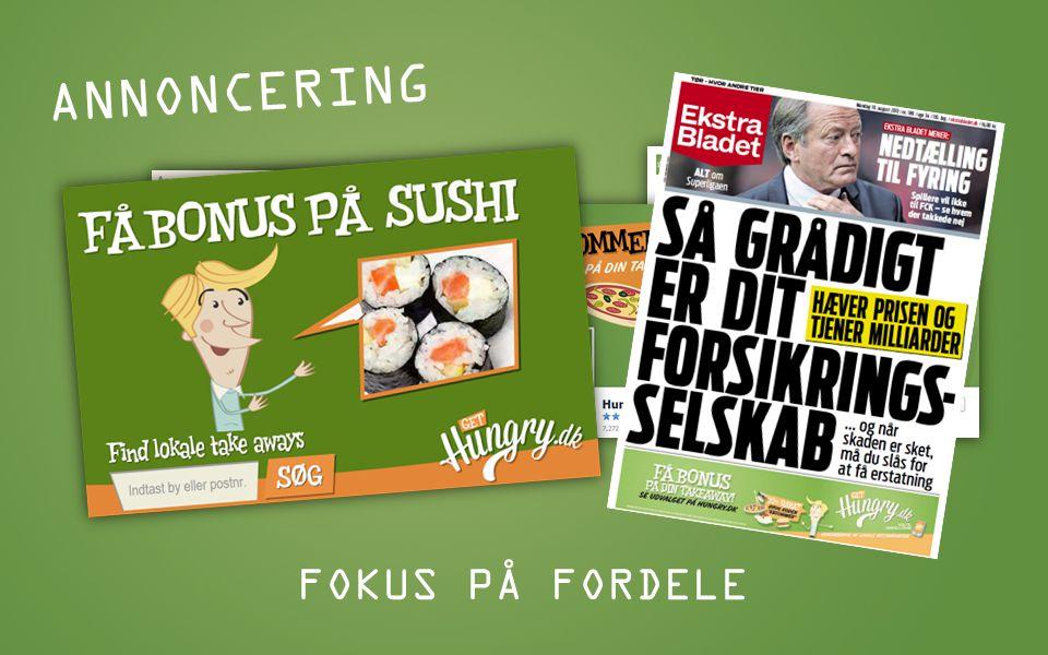 ANNONCERING FOKUS PÅ FORDELE