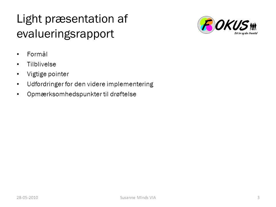Light præsentation af evalueringsrapport