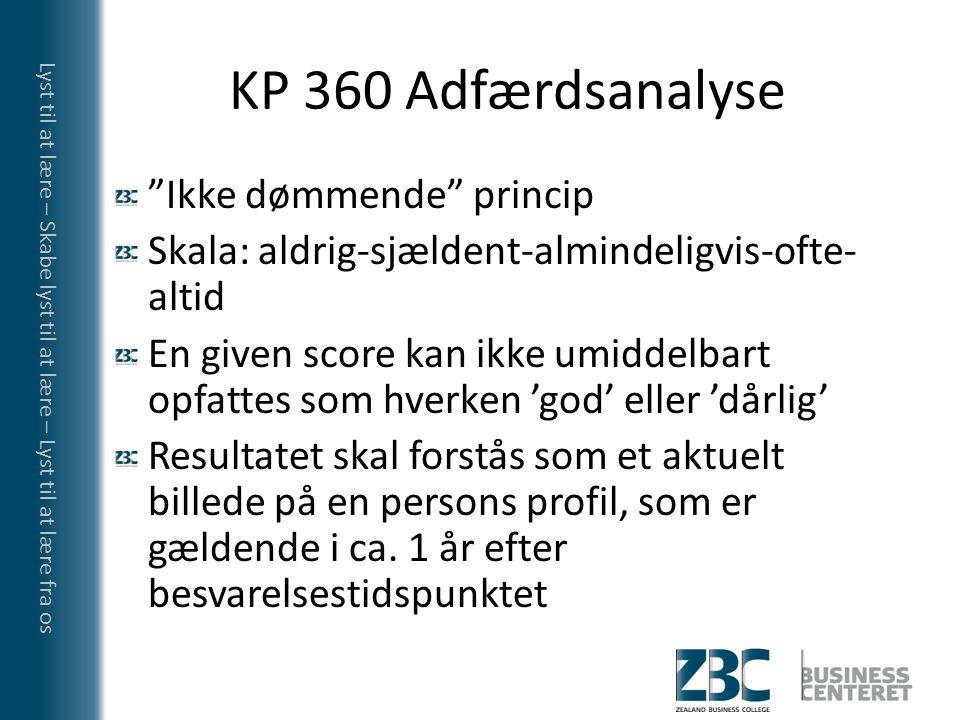 KP 360 Adfærdsanalyse Ikke dømmende princip