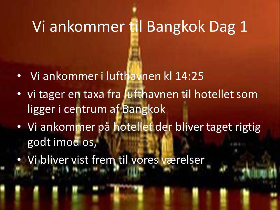 Vi ankommer til Bangkok Dag 1