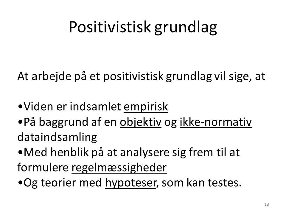 Positivistisk grundlag
