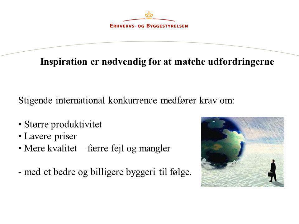 Inspiration er nødvendig for at matche udfordringerne