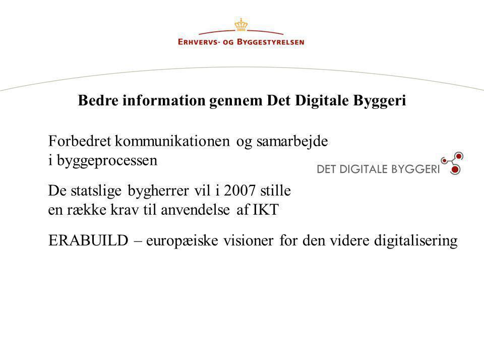 Bedre information gennem Det Digitale Byggeri