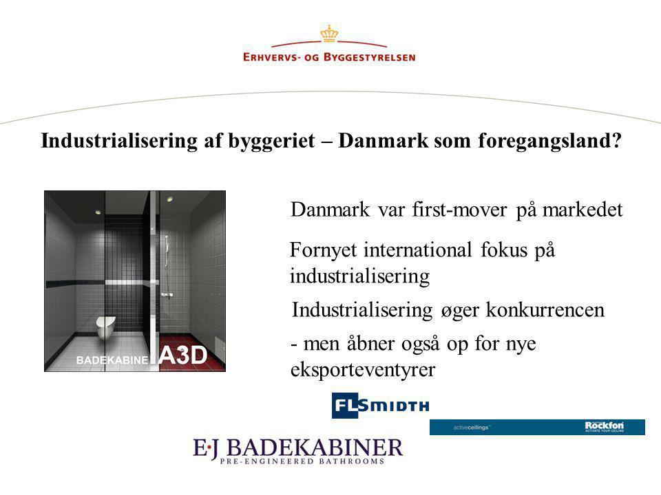 Industrialisering af byggeriet – Danmark som foregangsland