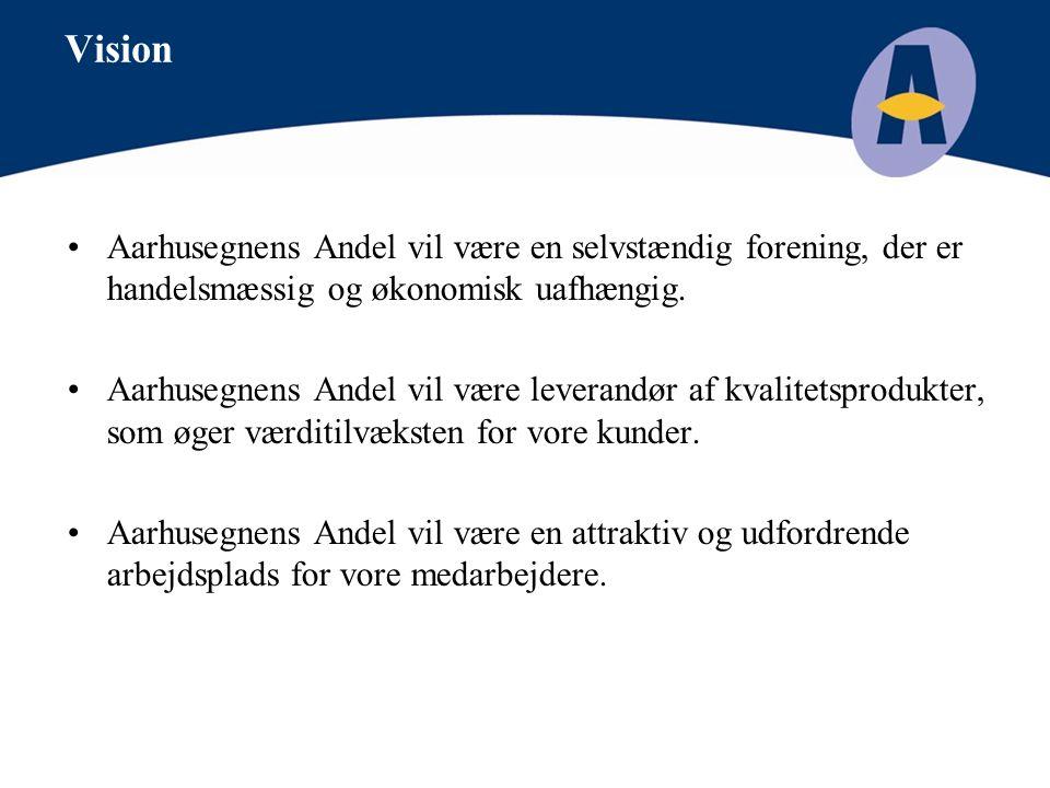 Vision Aarhusegnens Andel vil være en selvstændig forening, der er handelsmæssig og økonomisk uafhængig.