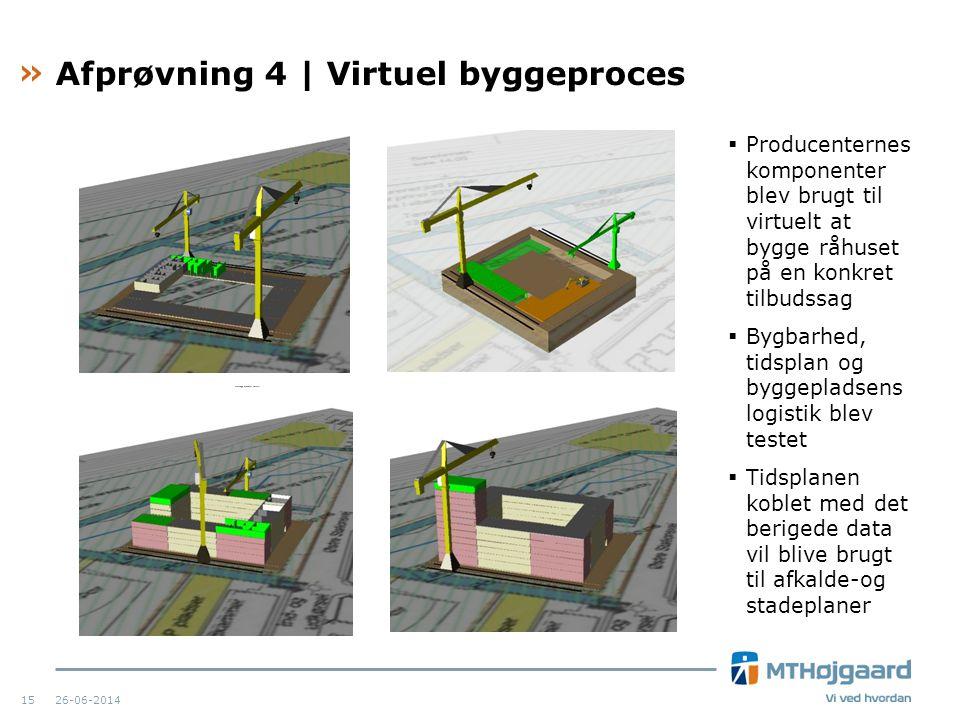 Afprøvning 4 | Virtuel byggeproces