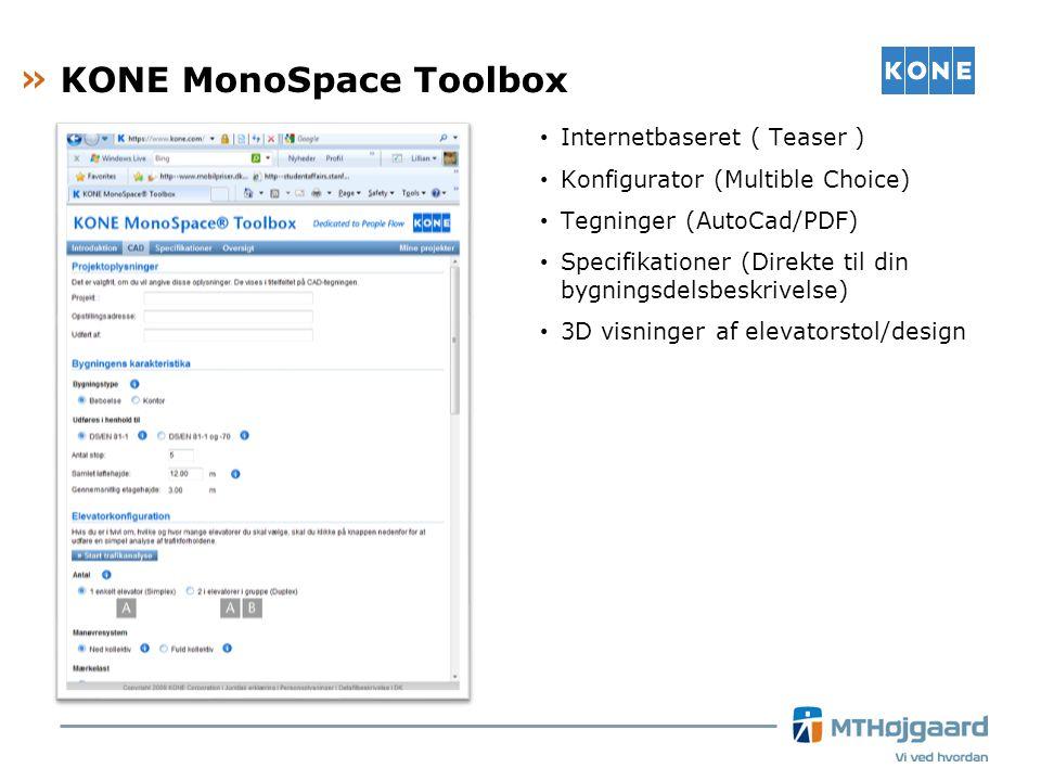 KONE MonoSpace Toolbox