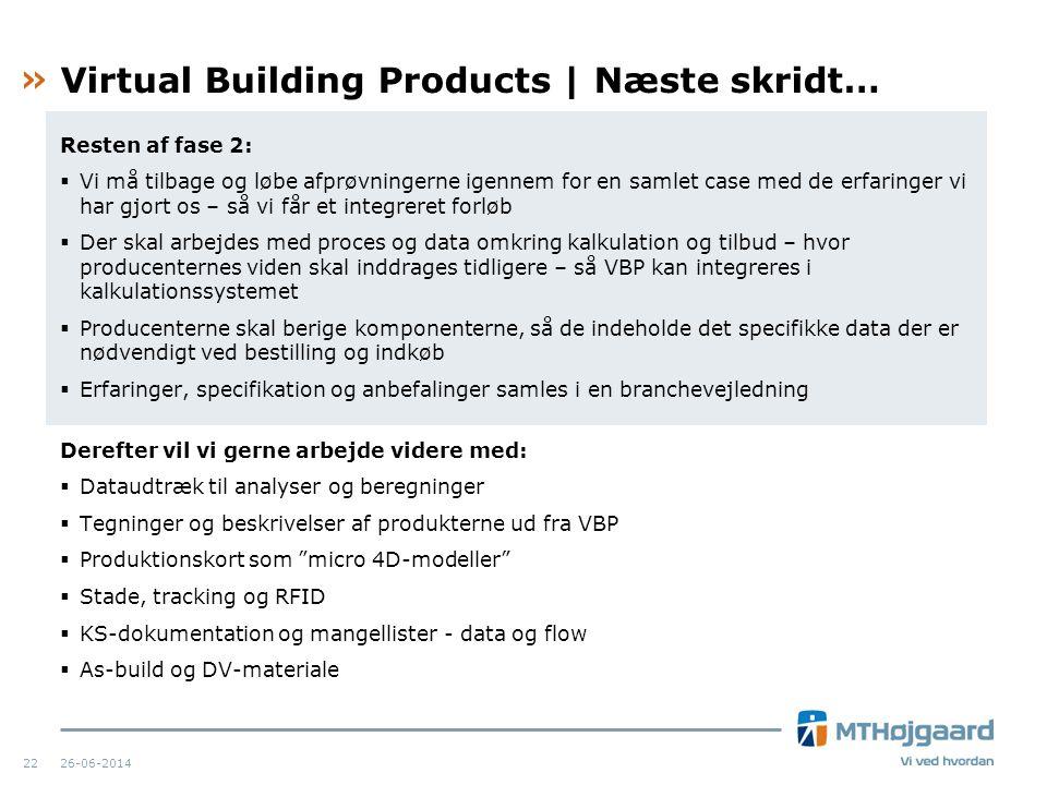 Virtual Building Products | Næste skridt…