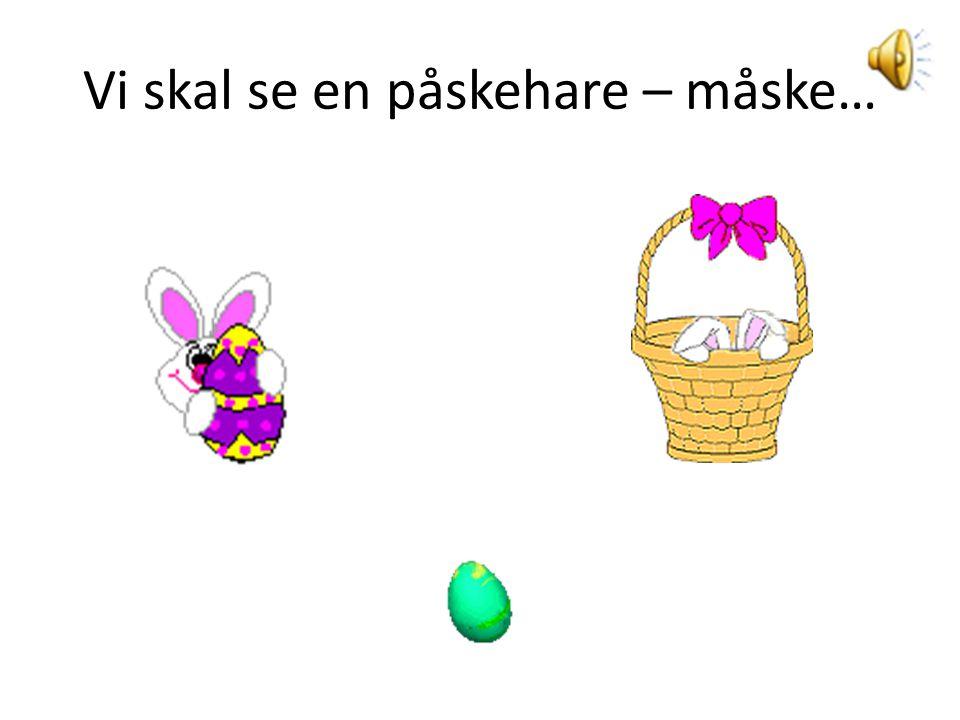 Vi skal se en påskehare – måske…