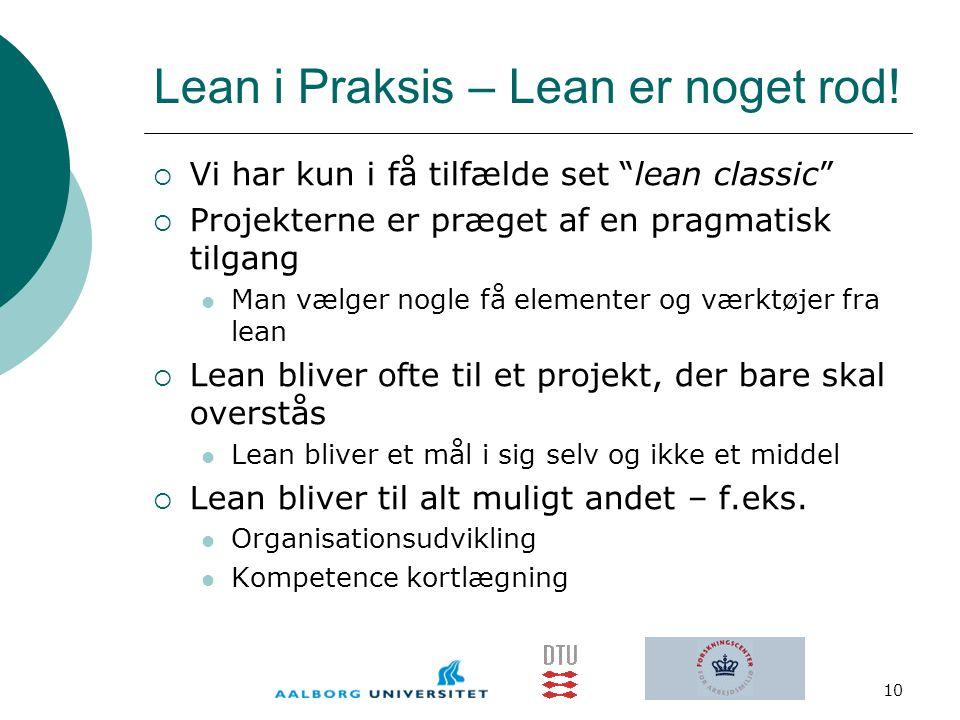 Lean i Praksis – Lean er noget rod!