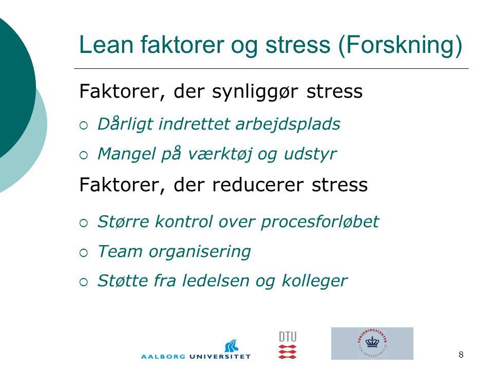 Lean faktorer og stress (Forskning)