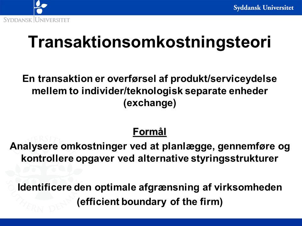 Transaktionsomkostningsteori