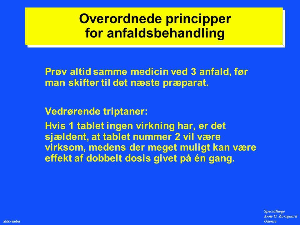 Overordnede principper for anfaldsbehandling