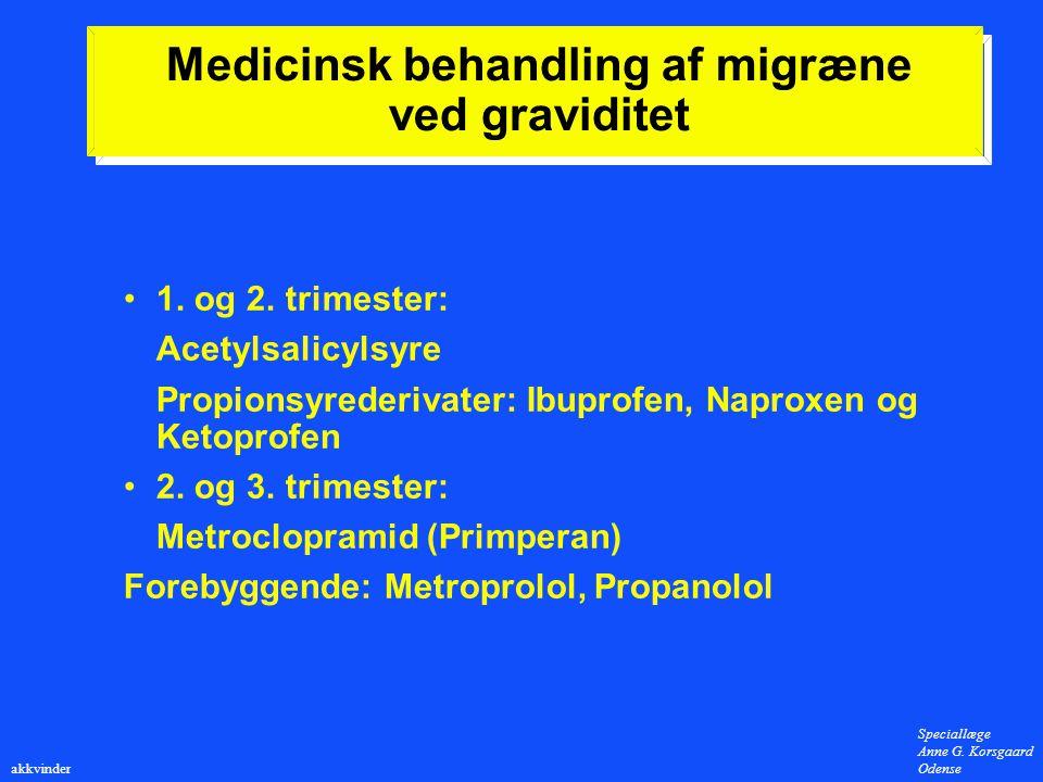 Medicinsk behandling af migræne ved graviditet