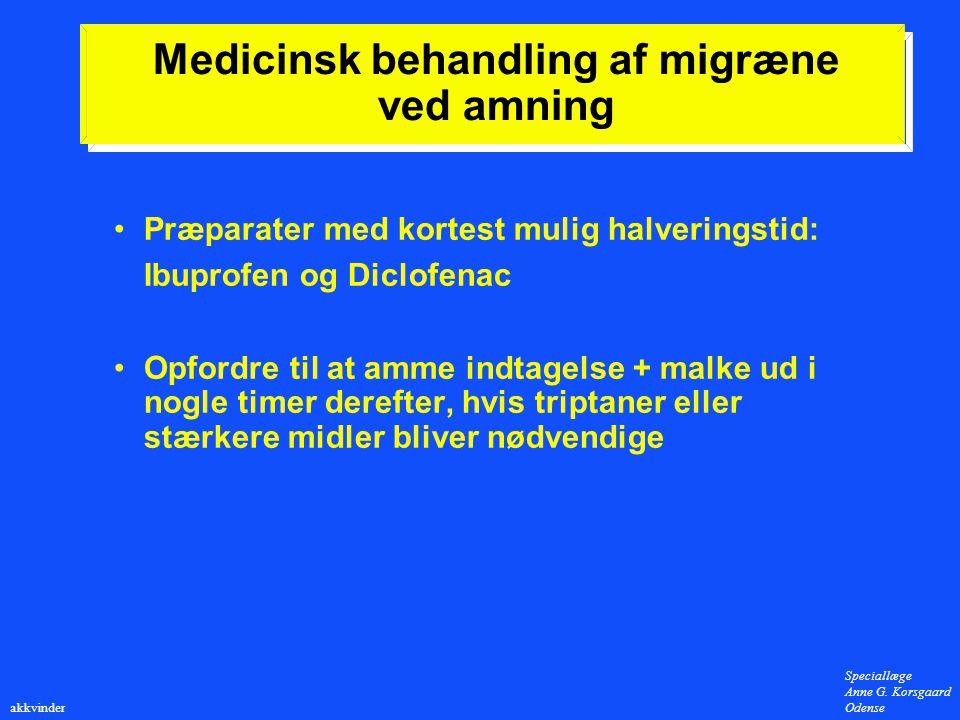 Medicinsk behandling af migræne ved amning