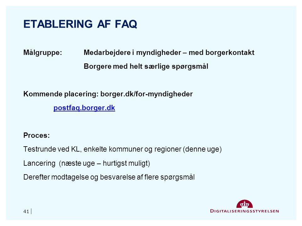 Etablering af FAQ