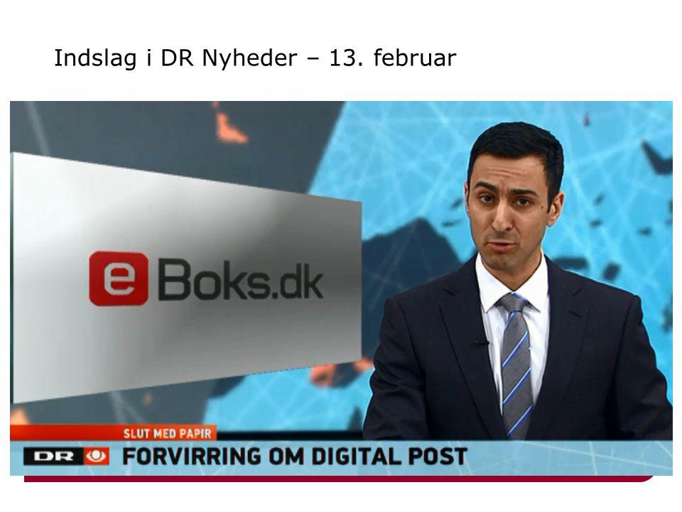 Indslag i DR Nyheder – 13. februar