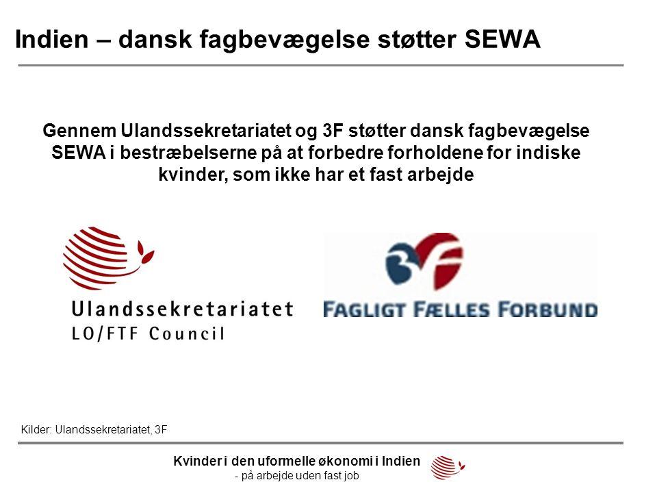 Indien – dansk fagbevægelse støtter SEWA