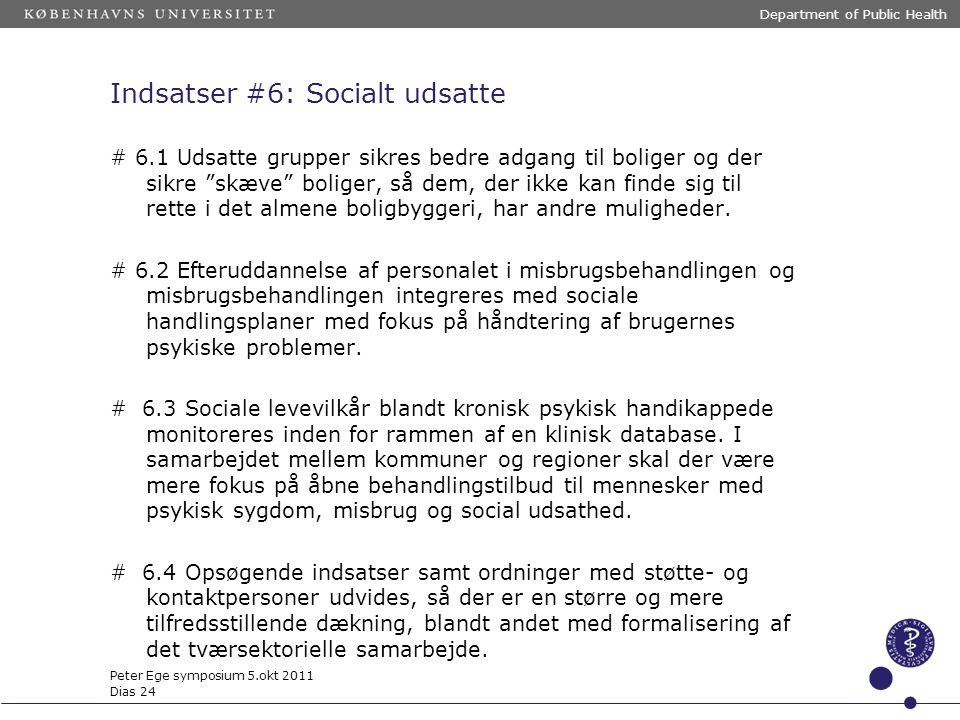 Indsatser #6: Socialt udsatte