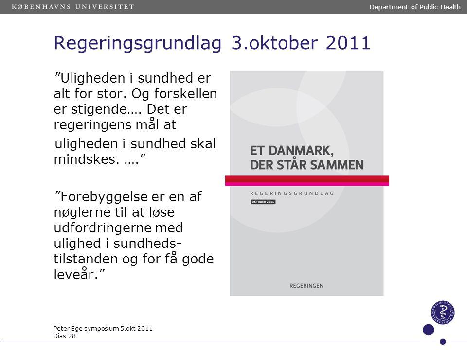 Regeringsgrundlag 3.oktober 2011
