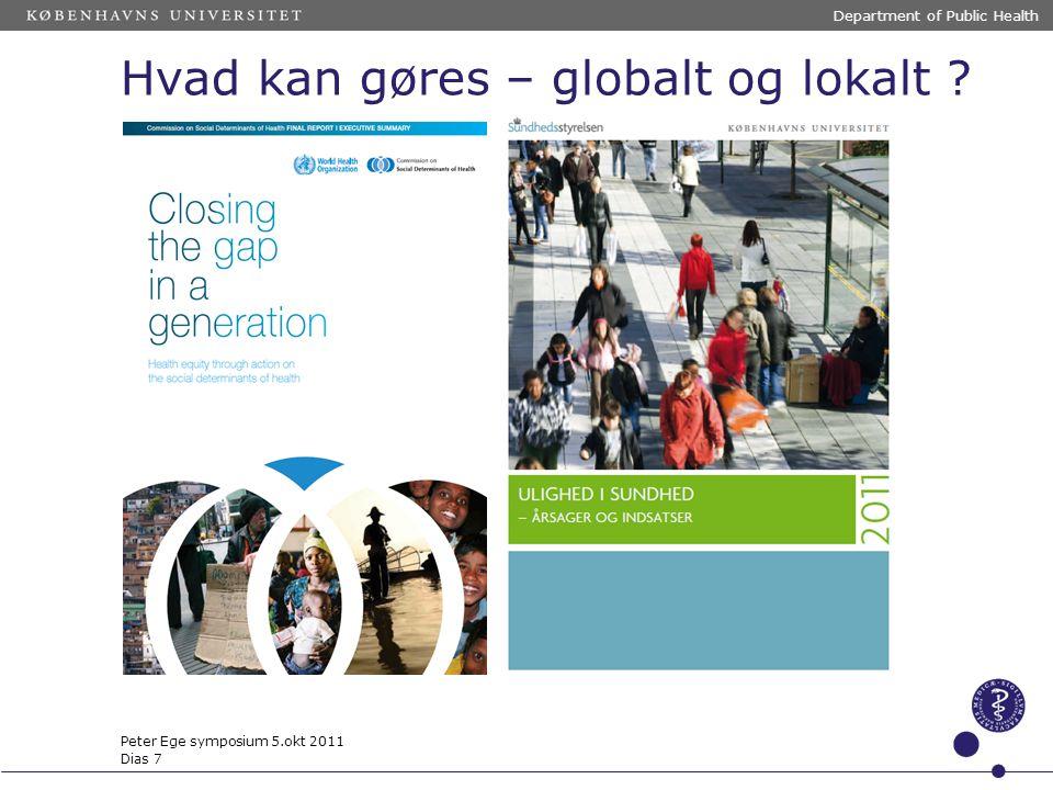 Hvad kan gøres – globalt og lokalt