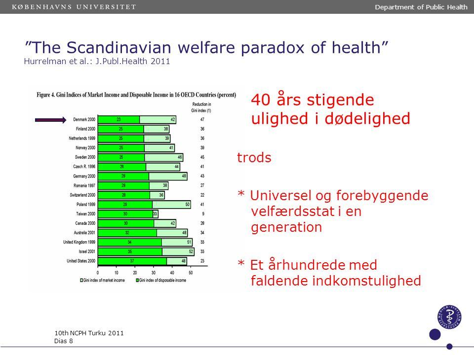 40 års stigende ulighed i dødelighed