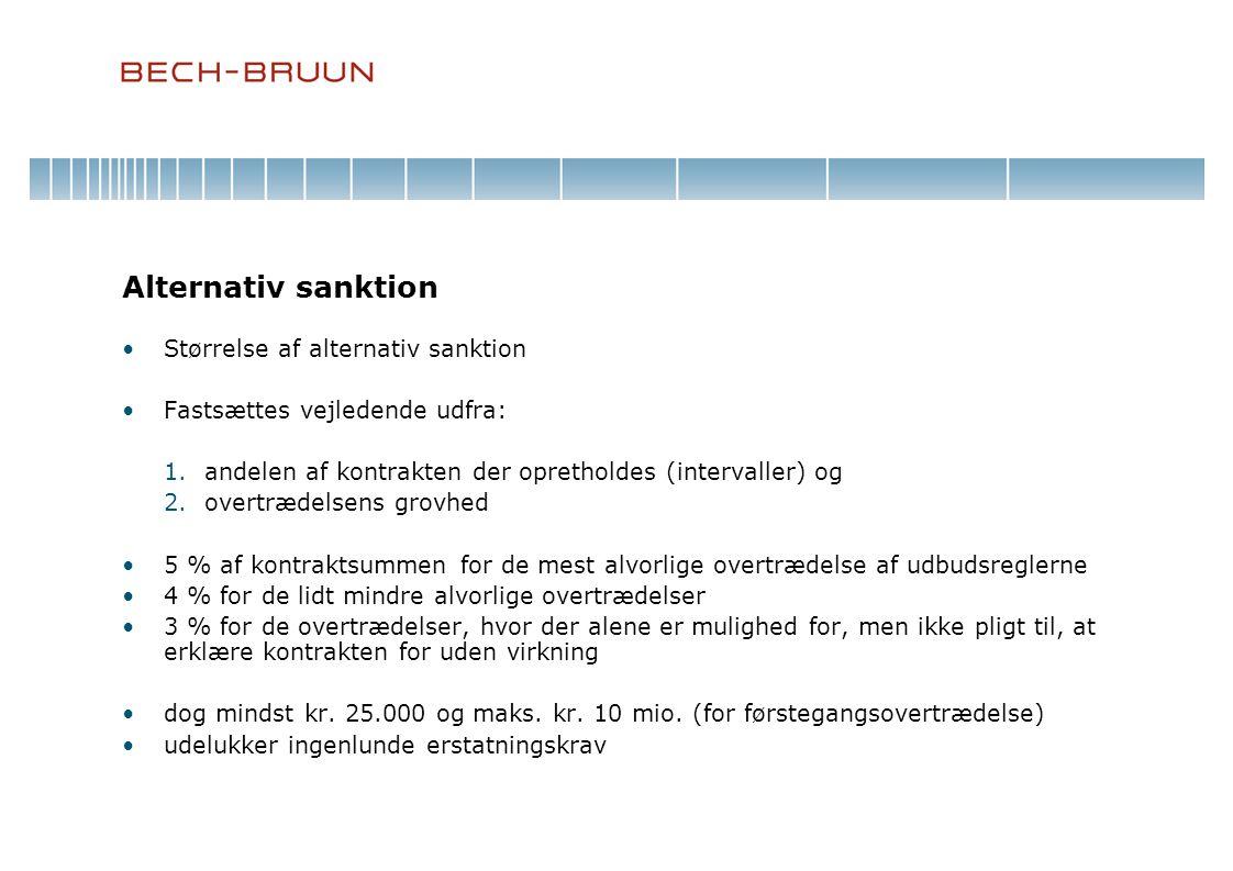 Alternativ sanktion Størrelse af alternativ sanktion