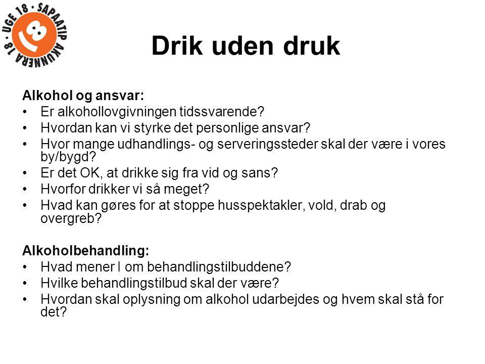 Drik uden druk Alkohol og ansvar: Er alkohollovgivningen tidssvarende