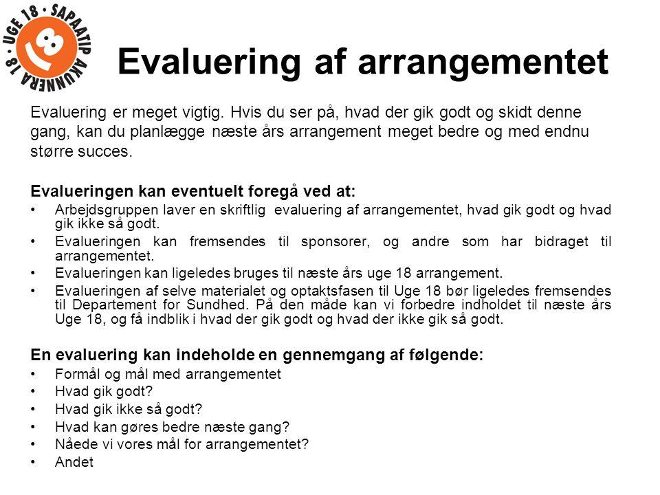 Evaluering af arrangementet