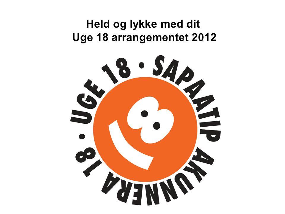 Held og lykke med dit Uge 18 arrangementet 2012