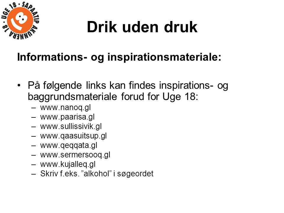 Drik uden druk Informations- og inspirationsmateriale: